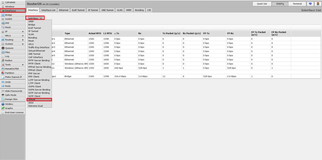Adding virtual wireless interface in hAP ac